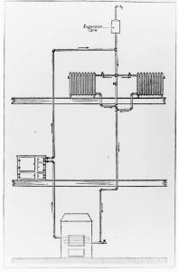 Hot water system illustration